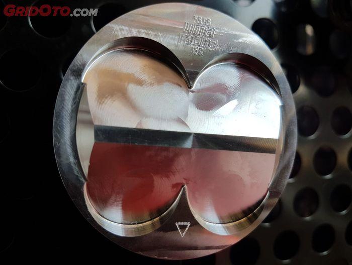 Bentuk piston menentukan seberapa besar rasio kompresio mesin motor
