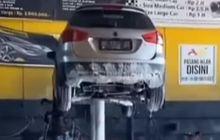 Cuci Mobil Dengan Hidrolik Model X Bikin Rusak Knalpot, Benarkah?