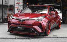 Toyota C-HR Merah Pede Berbodi Gambot, Jadi Keren Berkaki Kandas