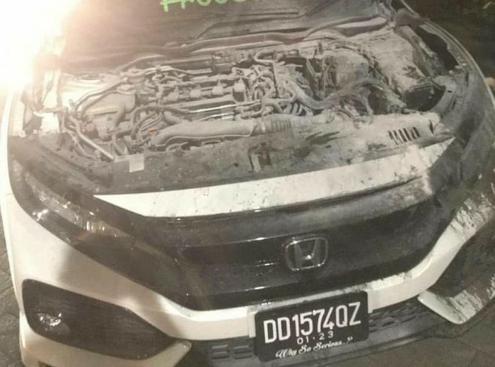 Kondisi mesin Honda Civic Turbo Usai terbakar