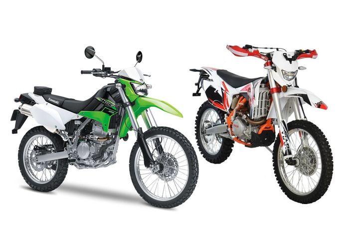 Kawasaki KLX 250 dan Viar Cross X 250 ES
