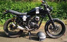 Scrambler Simpel Basisnya Yamaha Scorpio, Bodi dan Kakinya Kekar