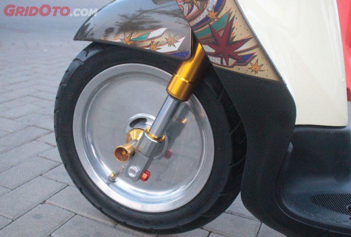 Yamaha Fino pasang pelek Monoblok ring 12