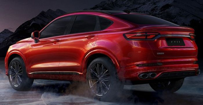 Geely FY11 SUV Coupe tampak belakang