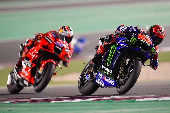 Jadi saksi insiden megerikan yang dialami Jack Miller di sesi kualifikasi MotoGP Doha 2021, Fabio Quartararo dibikin merinding