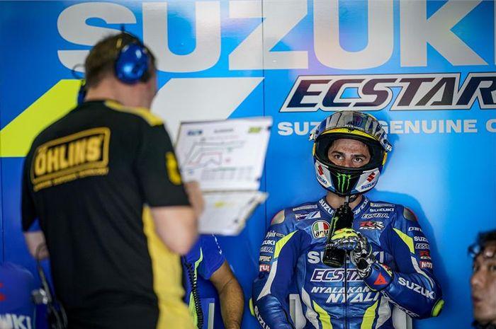 Joan Mir akan memulai balapan MotoGP Thailand, dua posisi di depan rekan setimnya Alex Rins