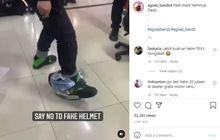 Viral Video Helm Palsu Valentino Rossi Diinjak Langsung Ambyar, Simak Nih Cara Cek Keaslian Helm Biar Enggak Ketipu