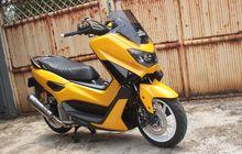 Modifikasi Yamaha NMAX Tampil Sporty Dengan Warna Kuning Glowing