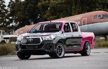 Toyota Hilux Beraura Racing, Warna Bodi Unik Kombinasi Pink dan Karbon