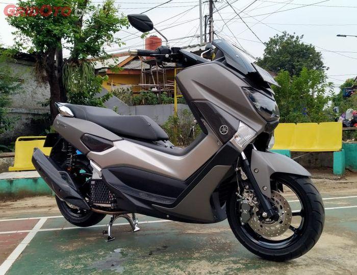 Yamaha NMAX modif simpel karbon kevlar dan kaki-kaki KTC