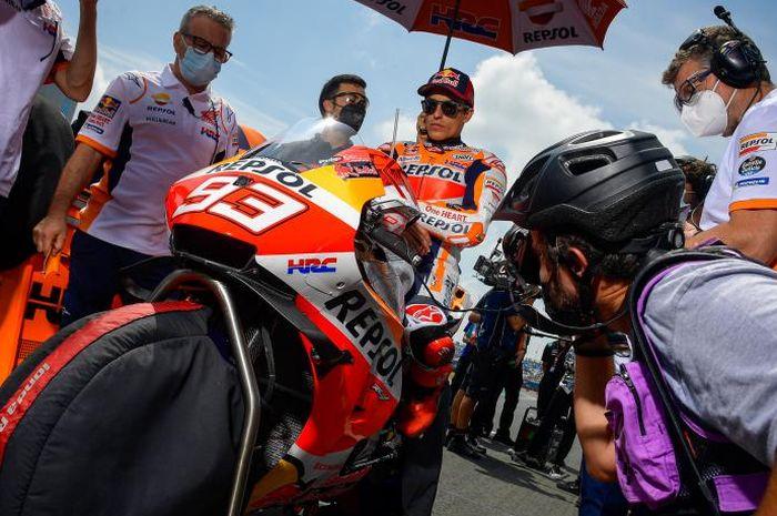 Marc Marquez dibuat pusing jelang seri MotoGP Styria 2021, Minggu (08/08/2021).