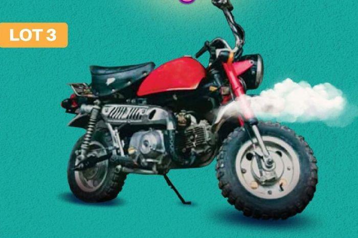 Satu unit Honda Monkey Z50J produksi 1979-1999 bakal dilelang.