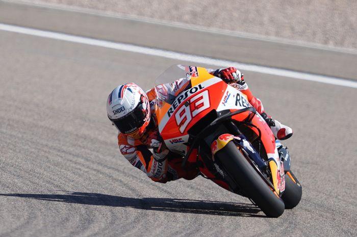 Marc Marquez membuktikan dirinya raja di sirkuit Sachsenring usai jadi yang tercepat di FP1 MotoGP Jerman 2021