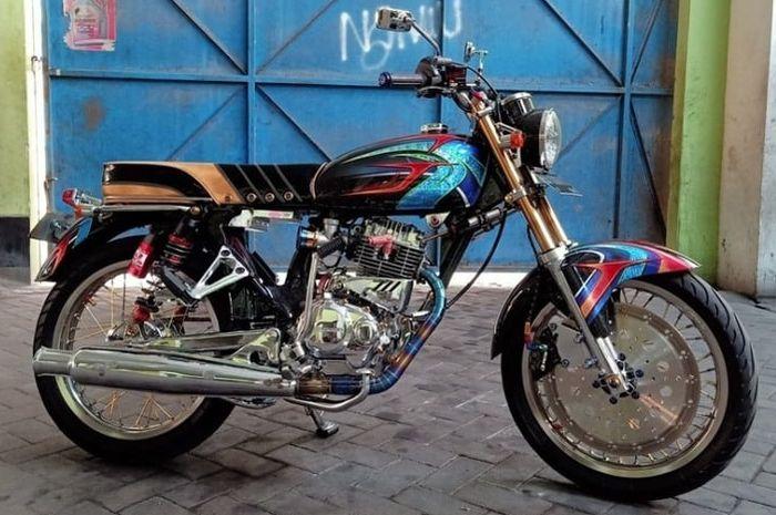 Honda Mega Pro custom ala Honda CB Lawas