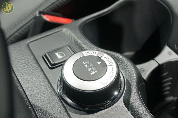 Kenop putar di X-Trail untuk berganti mode dari 2WD ke 4WD