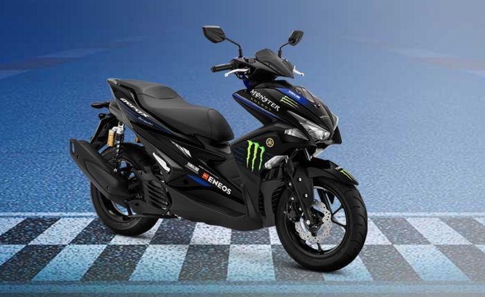Livery di bodi yang menggunakan grafis ala motor Yamaha YZR-M1 yang dipakai di MotoGP