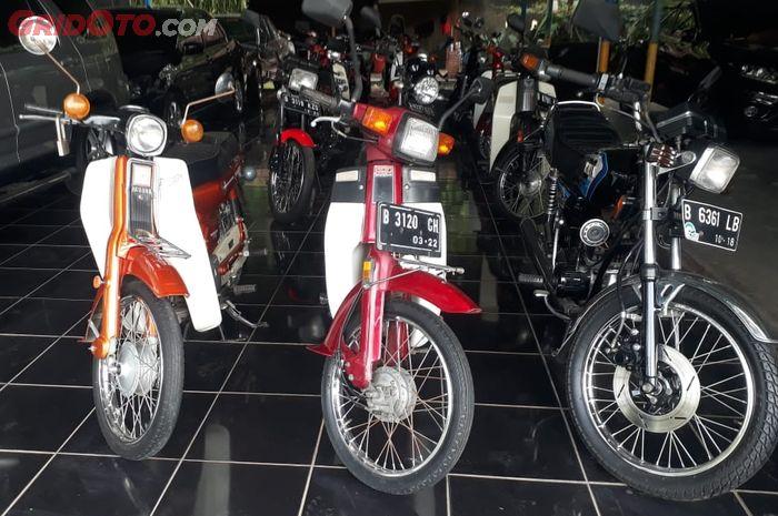 Ilustrasi. Stok motor tua di Jihal Classic Motor