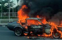 Ada Ford Mustang GT500 Eleanor Terbakar di Pondok Indah, Ini Videonya