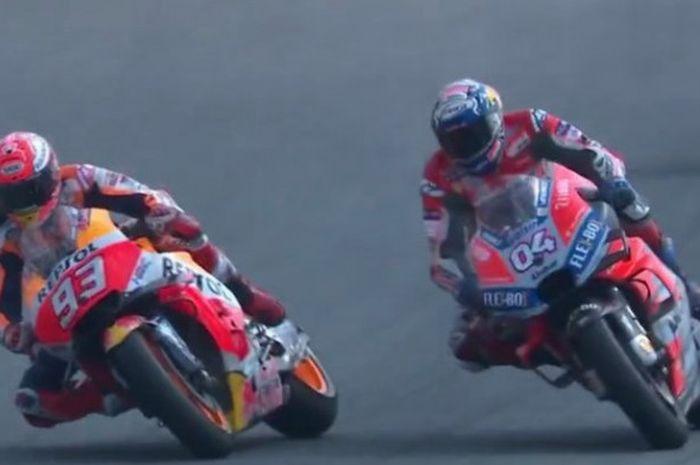 Andrea Dovizioso (kanan) mengungkap perkembangan motor Ducati di sesi latihan bebas MotoGP Malaysia 2018.