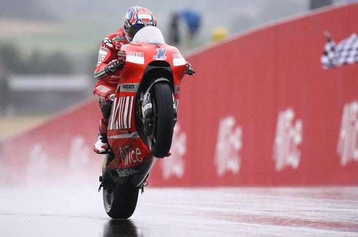 Casey Stoner, satu-satunya pembalap Ducati yang meraih kemenangan di Sachsenring pada MotoGP Jerman 2008