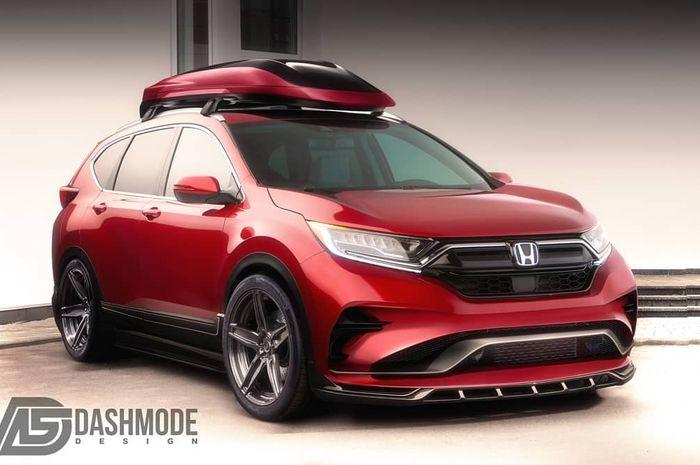 Konsep modifikasi digital keren Honda CR-V facelift