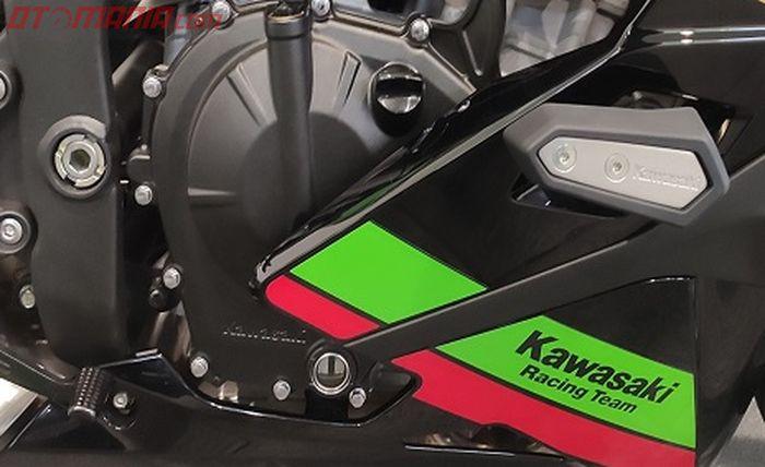 Kawasaki Ninja ZX-25R Special Edition memiliki frame slider.