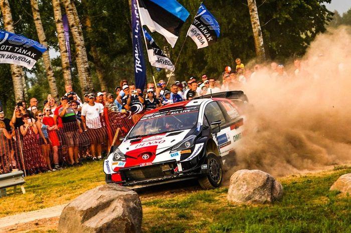 Pereli tim Toyota, Kalle Rovanpera beraksi di SS1 Reli Estonia 2021