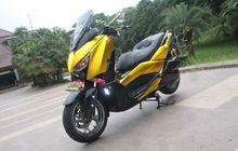 Yamaha XMAX Jubah Emas, Part dan Kaki Sporty Gaya Anak Muda Masa Kini