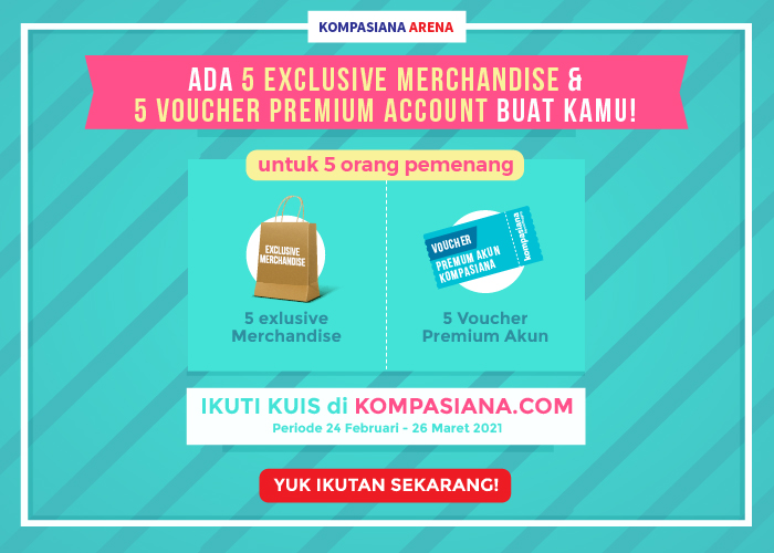 Kuis ini berhadiah 5 EXCLUSIVE MERCHANDISE & 5 VOUCHER PREMIUM ACCOUNT