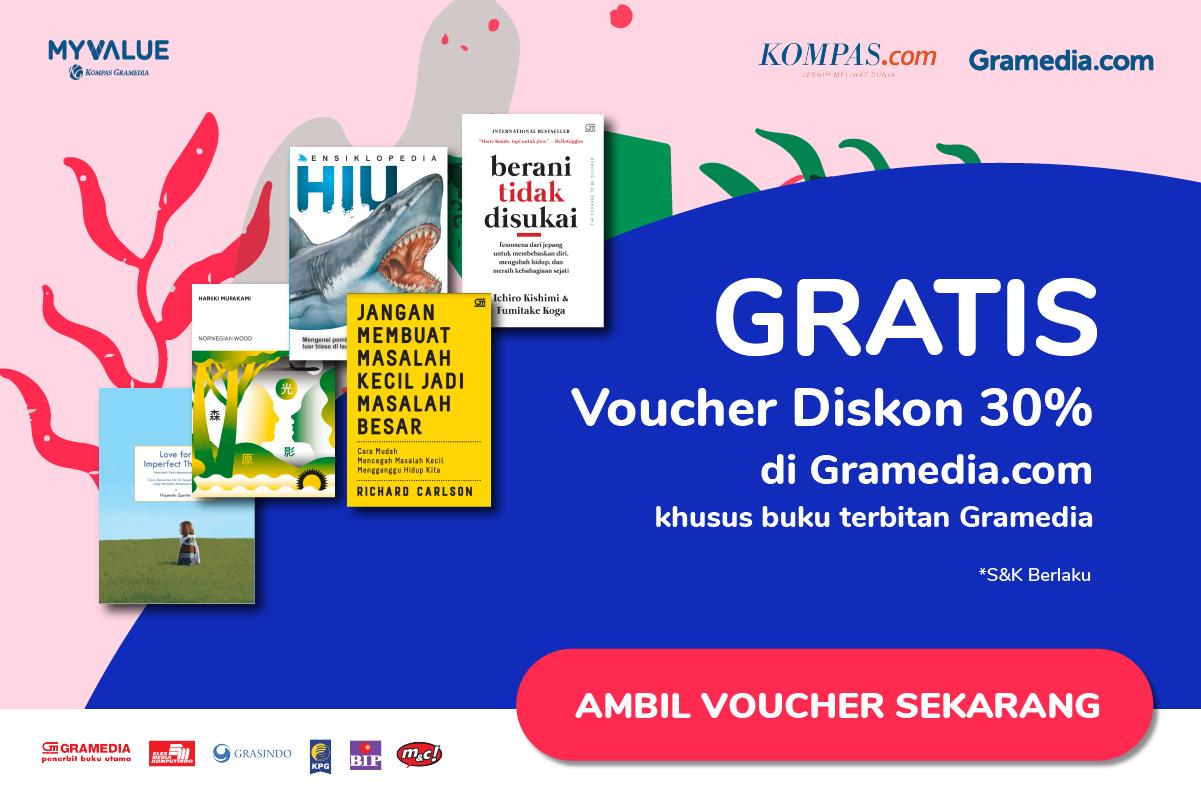 GRATIS Voucher Diskon 30% Belanja di Gramedia.com!